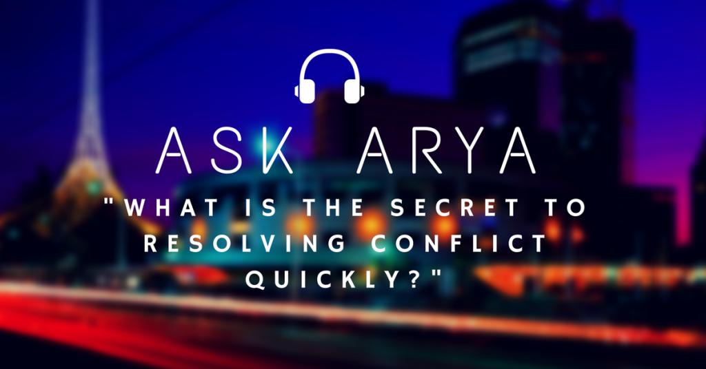 secret to resolving conflict