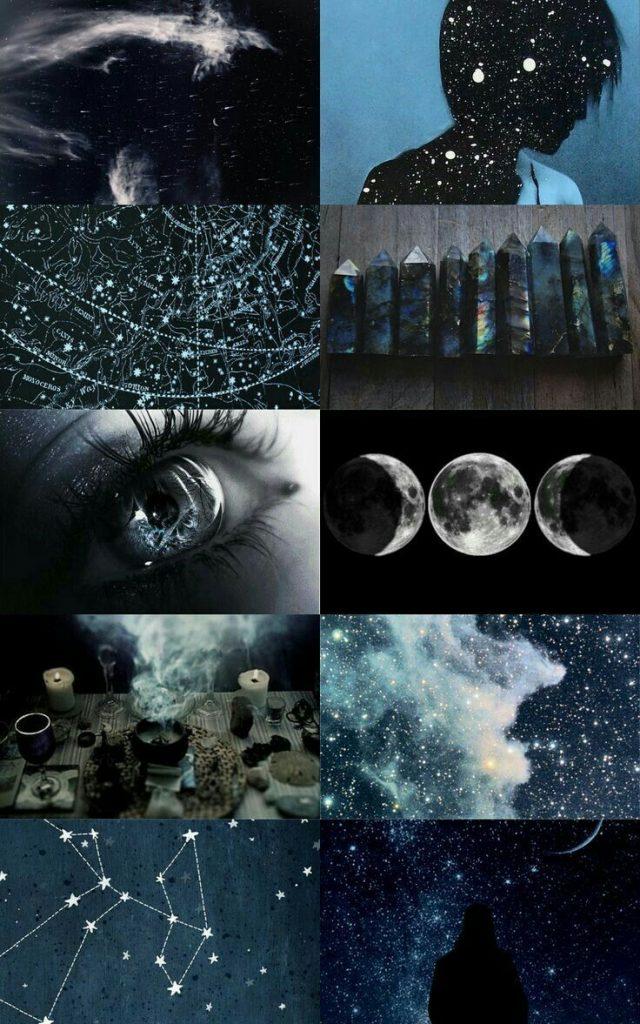 dark aesthetic vision board